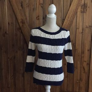 Knit 3/4 sleeve sweater